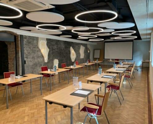 Barocksaal in der Villa Stokkum mit genügend Abstand im Seminar